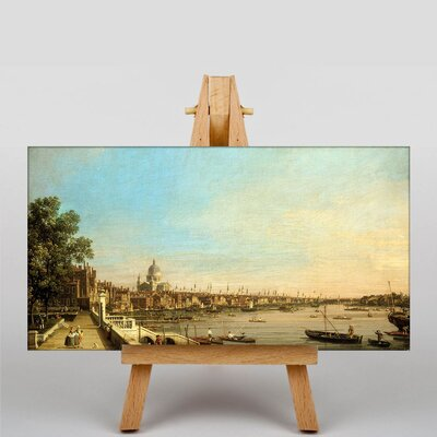 Big Box Art The Thames, Somerset House by Giovanni Canaletto Art Print on Canvas