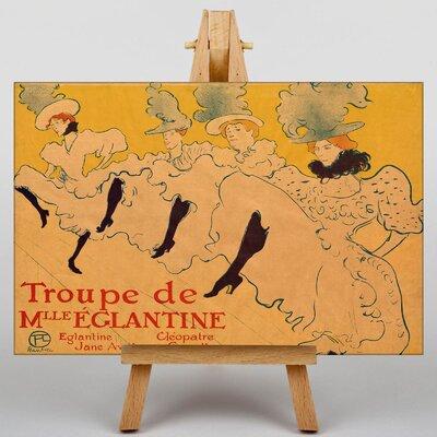 Big Box Art Kicking it Up by Henri de Toulouse-Lautrec Vintage Advertisement on Canvas