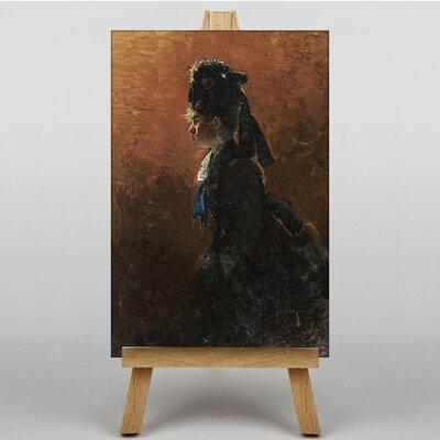 Big Box Art Study of a Woman by Ilya Repin Barge Art Print on Canvas