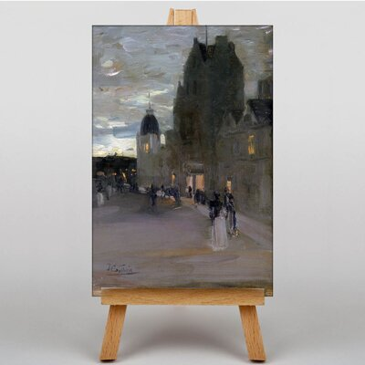 Big Box Art Street in Oban at Night by James Guthrie Art Print on Canvas
