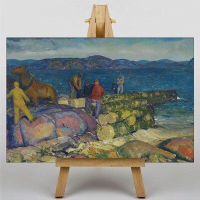 Big Box Art Dock Builders by George Bellows Art Print on Canvas