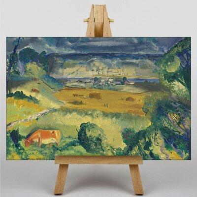 Big Box Art Harvest Landscape by George Bellows Art Print on Canvas
