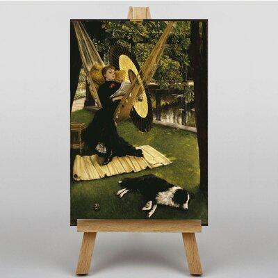 Big Box Art The Hammock by James Tissot Art Print on Canvas