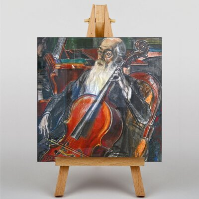 Big Box Art Man Playing the Cello by Jan Toorop Art Print on Canvas