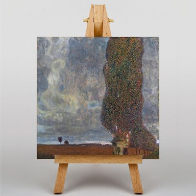 Big Box Art Approaching a Thunderstorm by Gustav Klimt Art Print on Canvas