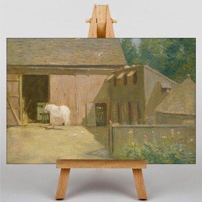 Big Box Art New England Barnyard by J. Alden Weir Art Print on Canvas