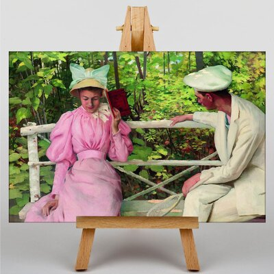 Big Box Art The Courtship by Janos Vaszary Art Print on Canvas
