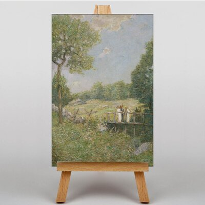 Big Box Art The Fishing Party by J. Alden Weir Art Print on Canvas