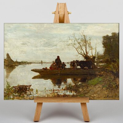 Big Box Art Ferry by Jacob Maris Art Print on Canvas