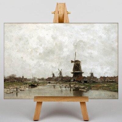 Big Box Art The Five Windmills by Jacob Maris Art Print on Canvas
