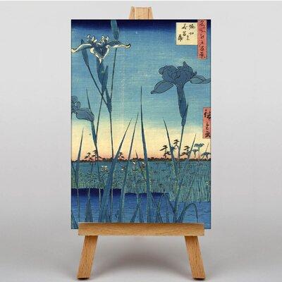 Big Box Art Japanese Oriental The Iris in Horikiri by Hiroshige Graphic Art on Canvas