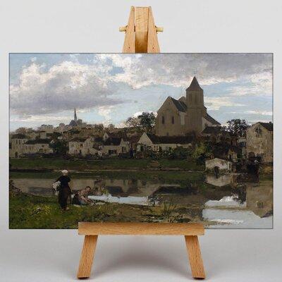 Big Box Art View at Montigny sur Loing by Jacob Maris Art Print on Canvas