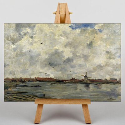 Big Box Art Windmill and House by Jacob Maris Art Print on Canvas