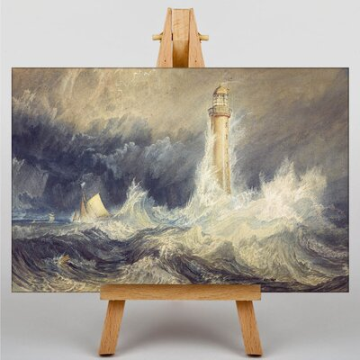 Big Box Art Bell Rock Lighthouse by Joseph Mallord William Turner Art Print on Canvas