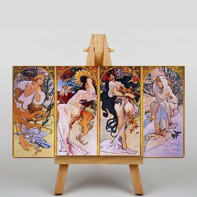 Big Box Art The Four Seasons No.2 by Alphonse Mucha Art Print on Canvas