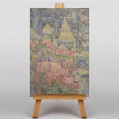 Big Box Art Castle Garden by Paul Klee Art Print on Canvas