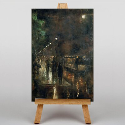 Big Box Art Nocturnal Berlin by Lesser Ury Art Print on Canvas