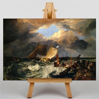 Big Box Art Calais Pier by Joseph Mallord William Turner Art Print on Canvas