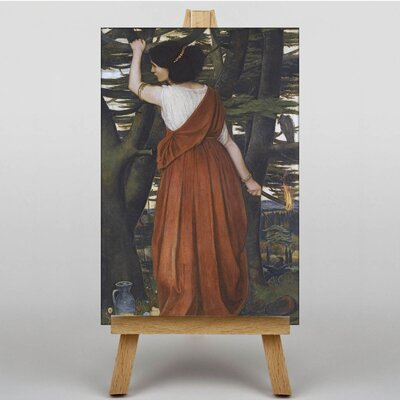 Big Box Art Spencer Stanhope Lady with a Torch by John Roddam Art Print on Canvas