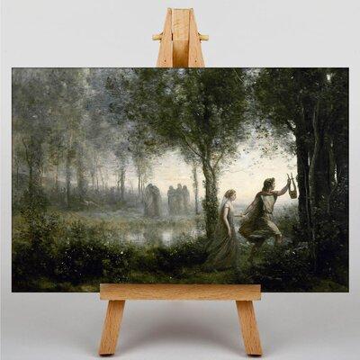 Big Box Art Orpheus Leading Eurydice from the Underworld by Jean-Baptiste Camille Corot Art Print on Canvas