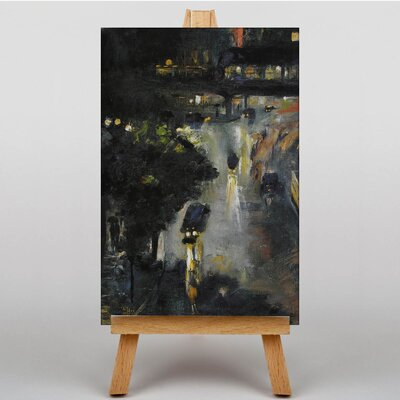 Big Box Art Nollendorfplat at Night by Lesser Ury Art Print on Canvas