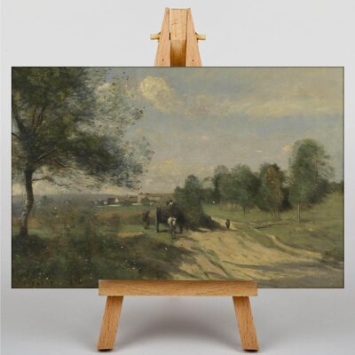 Big Box Art The Wagon by Jean-Baptiste Camille Corot Art Print on Canvas