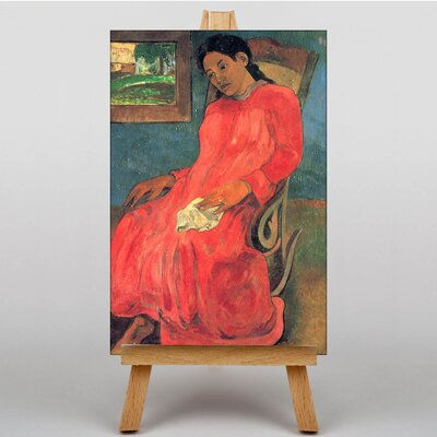 Big Box Art Seated Woman by Paul Gauguin Art Print on Canvas