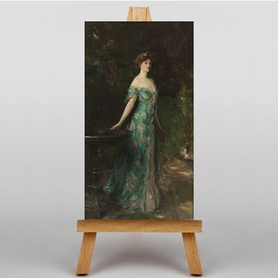 Big Box Art Sargent Portrait of Millicent Leveson by John Singer Art Print on Canvas