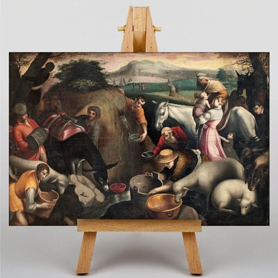 Big Box Art Bassano Moses Pours Water by Leandro Jacopo Art Print on Canvas