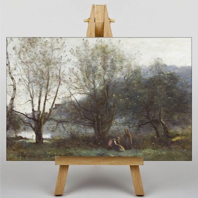 Big Box Art Two Woman by Jean-Baptiste Camille Corot Art Print on Canvas