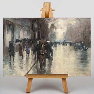 Big Box Art Under the Lime Trees by Lesser Ury Art Print on Canvas