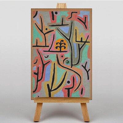 Big Box Art Park Scene by Paul Klee Art Print on Canvas