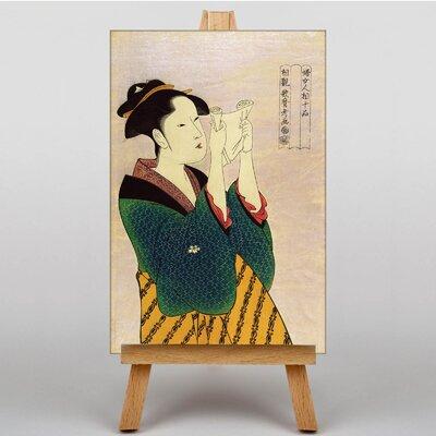 Big Box Art Japanese Oriental No.2 by Kitagawa Utamaro Graphic Art on Canvas
