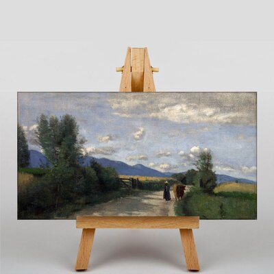 Big Box Art With Cow by Jean-Baptiste Camille Corot Art Print on Canvas
