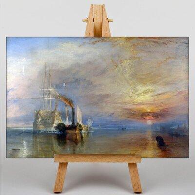 Big Box Art The Fighting Temeraire by Joseph Mallord William Turner Art Print on Canvas