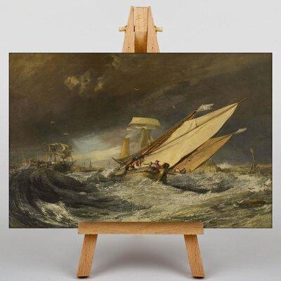 Big Box Art Fishing Boats Entering Callais by Joseph Mallord William Turner Art Print on Canvas
