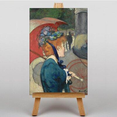 Big Box Art Female with an Umbrella by Louis Anquetin Art Print on Canvas
