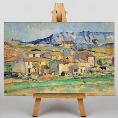 Big Box Art Montagne Sainte Victoire No.4 by Paul Cezanne Art Print on Canvas