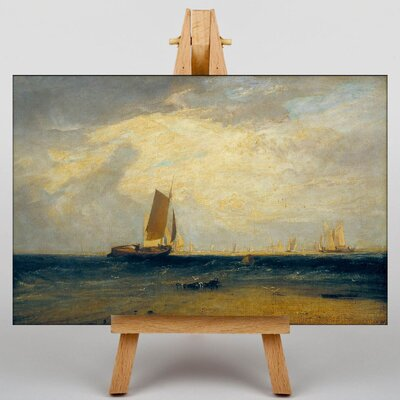 Big Box Art Fishing Upon he Blythe Sand by Joseph Mallord William Turner Art Print on Canvas