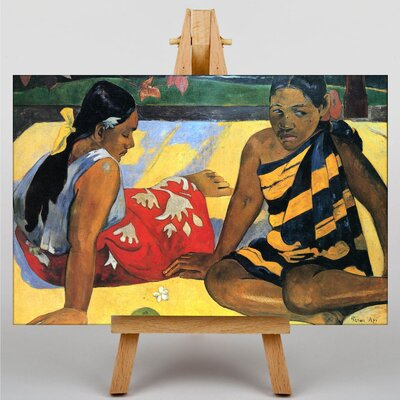 Big Box Art Two Women of Tahiti by Paul Gauguin Art Print on Canvas