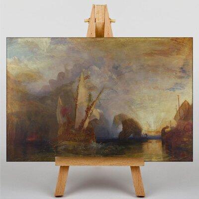 Big Box Art Ulysses Deriding Polyphemus Homers Odyssey by Joseph Mallord William Turner Art Print on Canvas