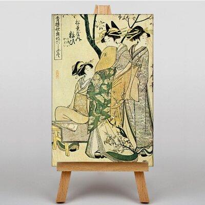 Big Box Art Japanese Oriental No.6 by Kitagawa Utamaro Graphic Art on Canvas