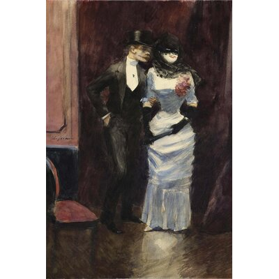 Big Box Art The Masked Ball by Jean-Louis Forain Art Print on Canvas