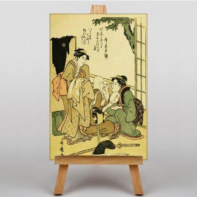 Big Box Art Vintage Japanese Oriental by Kitagawa Utamaro Graphic Art on Canvas