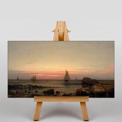 Big Box Art Sailing off the Coast by Martin Johnson Heade Art Print on Canvas