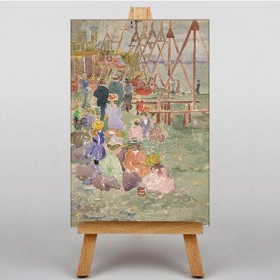 Big Box Art Swings Revere Beach by Maurice Prendergast Art Print on Canvas