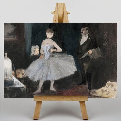 Big Box Art Visit in the Dancers Room by Jean-Louis Forain Art Print on Canvas