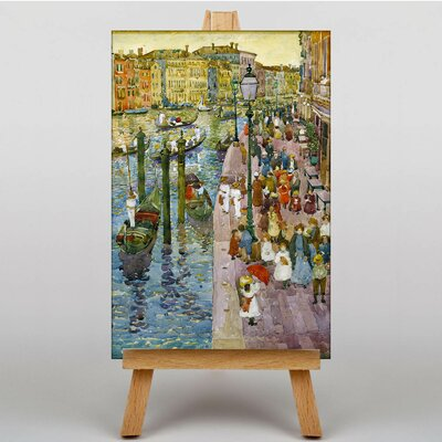 Big Box Art Terra Grand Canal Venice by Maurice Prendergast Art Print on Canvas