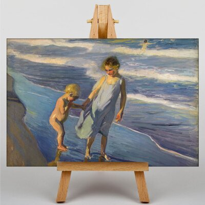 Big Box Art Brother and Sister by Joaquin Sorolla Y Bastida Art Print on Canvas