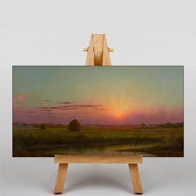 Big Box Art Sunset over the Marsh by Martin Johnson Heade Art Print on Canvas